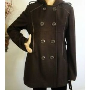 M60 miss sixty chocolate xl hooded coat